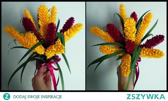 Bukiet wykonany z papieru, świetna alternatywa dla żywych kwiatów, które po kilku dniach więdną.