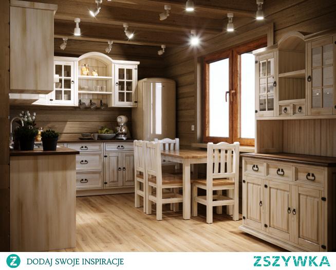 meble kuchenne modułowe w prowansalskim stylu