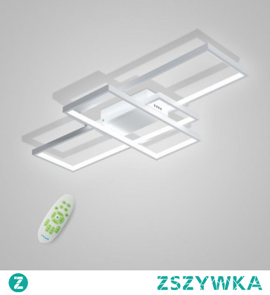 CONTRACTED LED 3-Light Linear Flush Mount Ambient Light Painted Finishes Metal Aluminum Geometric Pattern 110-120V / 220-240V Warm White / Cold White / Dimmable With Remote Control LED Light Source
