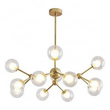12-Head Nordic Style Chandelier Glass Molecules Pendant Lights Living Room Be...