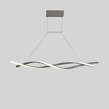 2 Light Linear Chandelier Ambient Light Painted Finishes Aluminum Creative Ad...