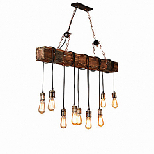 10 Light Industrial Chandelier Ambient Light Painted Finishes Wood / Bamboo C...