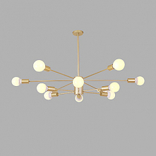 Sputnik Chandelier Ambient Light Gold Painted Finishes Metal Creative