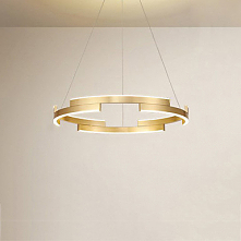 6 Light Circle / Geometrical Chandelier Ambient Light Brushed Painted Finishe...