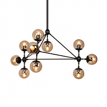 10 Light Sputnik Chandelier Ambient Light Painted Finishes Metal Glass Dimmab...