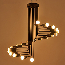 Cluster Chandelier Ambient Light Painted Finishes Metal Designers 220-240V Bu...