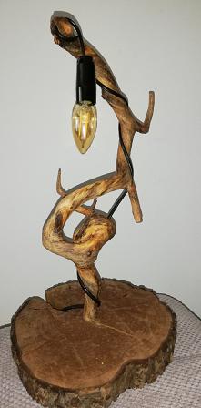 Lampa własnoręcznie wykonana