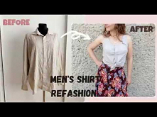 Men's Shirt Refashion || Tied Top