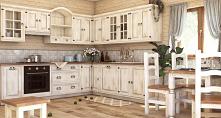 Drewniane meble kuchenne w prowansalskim stylu, kuchnie na wymiar meble-woskowane.com.pl