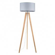 Elegancka i stylowa drewniana dębowa lampa stojąca Lotta Britop Lighting - dąb olejowany z szarym abażurem. Ta dębowa drewniana lampa podłogowa stojąca Lotta występuje w różnych...