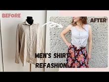 bluzka z koszuli diy