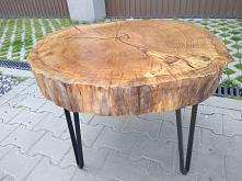 Loftowy stolik kawowy debow...