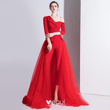Moda Czerwone Kombinezon 2020
