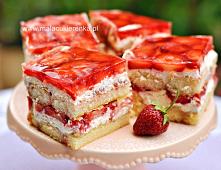 Ciasto z truskawkami na bis...