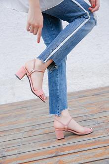 Sandałki na małym obcasie