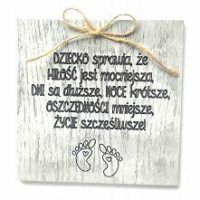 Drewniana kartka z okazji n...