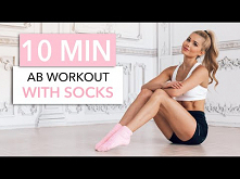 10 MIN SOCKS WORKOUT - Abs out of Steel / Equipment: Socks I Pamela Reif