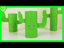 Kaktus z rolki po papierze ...
