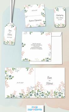 Papeteria ślubna Pastelowe różyczki. Sprawdź produkty z kolekcji :) Moje Zaproszenia