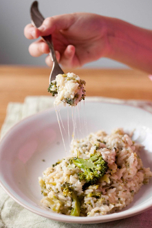 Ryż z brokułami i serem