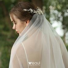 Uroczy Srebrny Ozdoby Do Włosów Ozdoby Do Włosów Ślubne 2020
