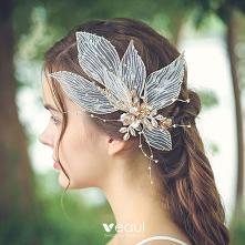 Wróżka Kwiatowa Złote Ozdoby Do Włosów Ozdoby Do Włosów Ślubne 2020