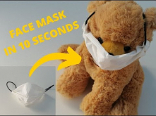 HOW TO MAKE A PROTECTIVE MASK?? FACE MASK IN 10 SECONDS!! DISPOSABLE FACE MAS...
