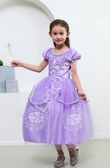 Sukienka dla dziewczynki Jej wysokość Zosia. Kostium na bal. Dziecięca sukien...