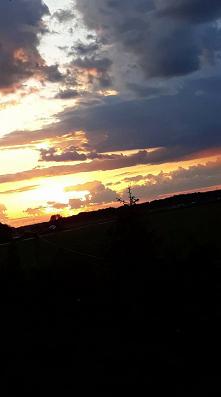zachód słońca po burzy :)