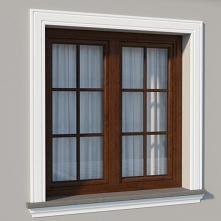 Gzyms DLE8 od producenta sztukaterii. Listwa elewacyjna okienna symetrycznie zdobiona. Listwy elewacyjne zewnętrzne pokryte są specjalną masą sztukatorską w kolorze piaskowym. L...