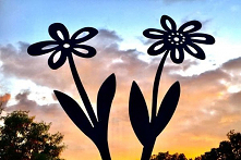 Metalowy kwiat - ozdoba ogr...
