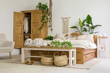 rustykalna sypialnia z dusz...