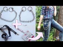 DIY łańcuch do spodni lub podwójny naszyjnik