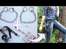 DIY łańcuch do spodni lub p...