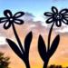 Metalowy kwiat - ozdoba ogrodowa