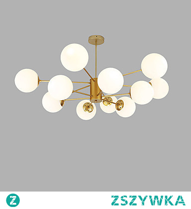 Sputnik Chandelier Ambient Light Gold Painted Finishes Metal Glass Creative