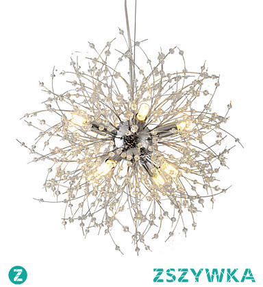 Modern Electroplated Globe Chandeliers Firework Led Vintage Pendant Lights Living Room Dining Room G9 Bulb Base