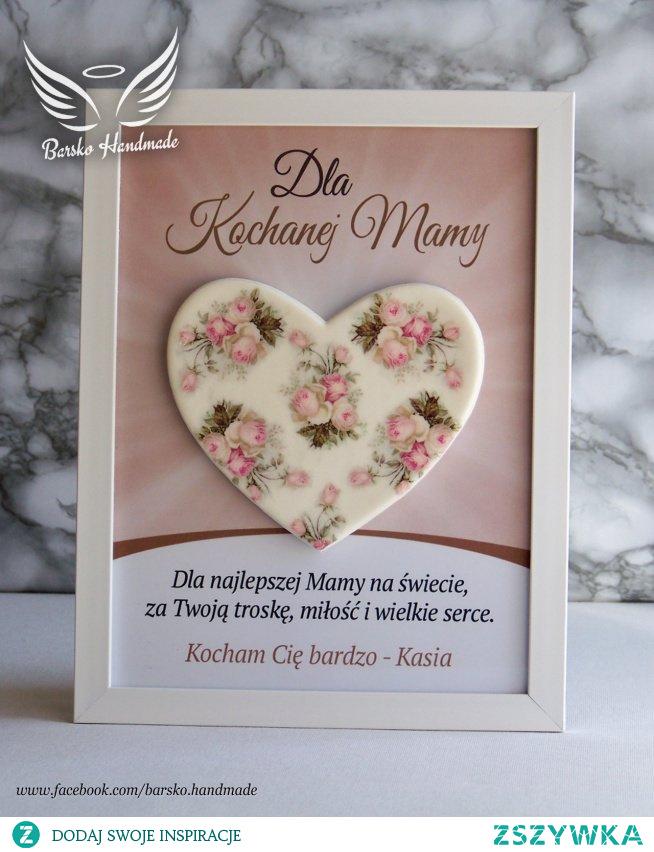 Serce dla Kochanej Mamy - ramka 18x24