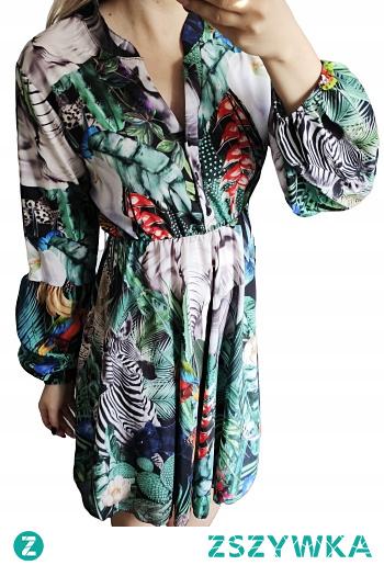 Sukienka rozkloszowana afrykańskie wzory! Do zakupienia po kliknięciu w zdjęcie