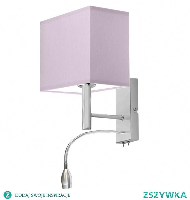 W pokoju dziecka znaczącą rolę odgrywają oświetlenia dodatkowe w postaci kinkietów. Taki rodzaj lampy doskonale wpisuje się w dziecięce wnętrza. Lampa składa się z tkaninowego abażura, którego struktura doskonale przepuszcza światło tym samym pięknie rozpromieniając wnętrze. Natomiast metalowy stelaż nadaje lampie wytrzymałości. Oprócz walorów estetycznych posiada również funkcje praktyczną w postaci panelu LED umieszczonego na stelażu. Takie rozwiązanie świetnie sprawdzać się będzie podczas wieczornego zasypia. Uspokoi dziecko i pozwoli mu na spokojny sen w łagodnym świetle ZIBO. Kinkiet posiada miejsce na jedną oprawkę E27 oraz dostosowany jest do żarówek LED.