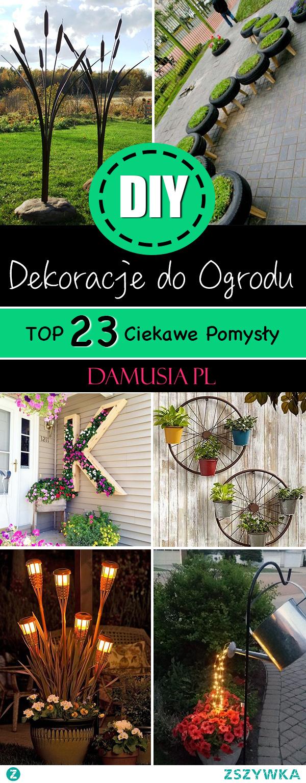 DIY Dekoracje do Ogrodu – TOP 23 Ciekawe Pomysły Które Musicie Poznać