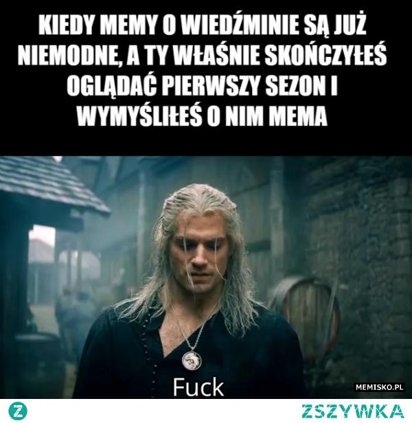 Memy o wiedźminie są już niemodne