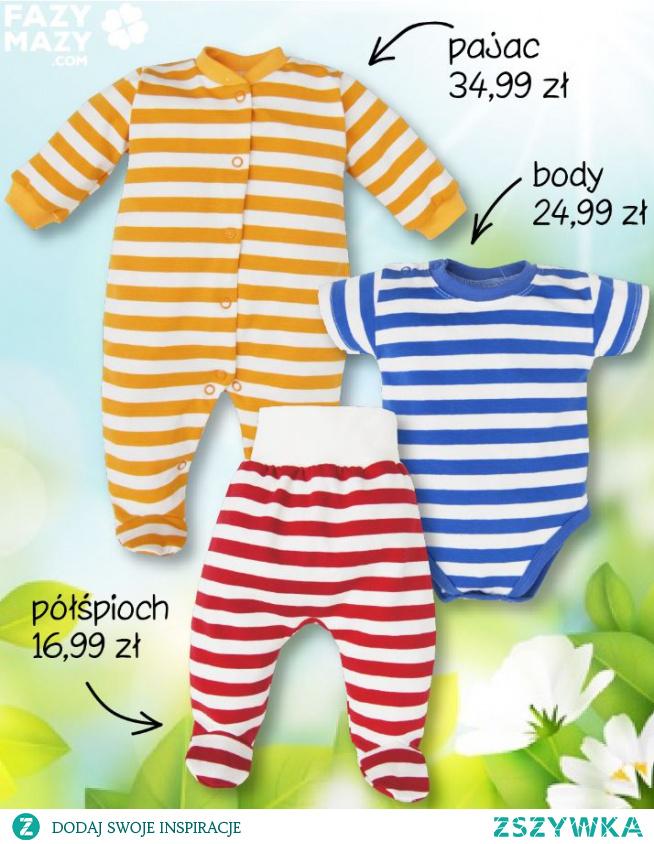 Lekkie ubranka niemowlęce na lato