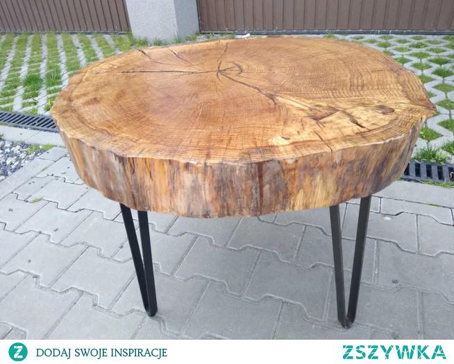 Loftowy stolik kawowy debowy :)
