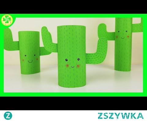 Kaktus z rolki po papierze toaletowym | DIY Tutorial
