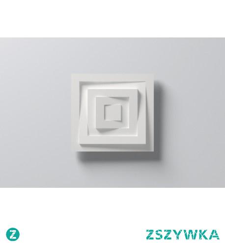 Rozeta NMC Arstyl CS5 to fenomenalna forma producenta, która swoim trójwymiarowym designem może zostać zamontowana w przeróżnych przestrzeniach. Niespotykany, wyjątkowy model w geometrycznym kształcie kwadratu może zostać pięknie wyeksponowany zarówno na suficie jak i ścianie. Rozeta może zostać przemalowana na kolor, który wkomponuje się w naszą domową aranżację.