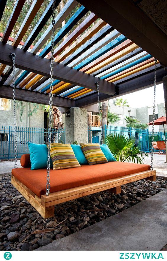 #ogród #łóżko