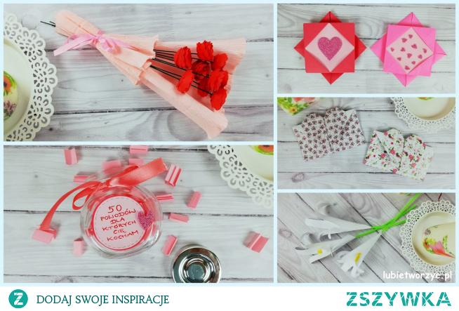 Tutorial, w  którym znajdziecie 5 ciekawych pomysłów na własnoręczne stworzenie prezentów dla mamy: koperty origami, ramki origami, lilii z papierowej dłoni, bukietu z papierowych różyczek i słoiczka z 50 powodami, dla których kochamy nasze mamy :)