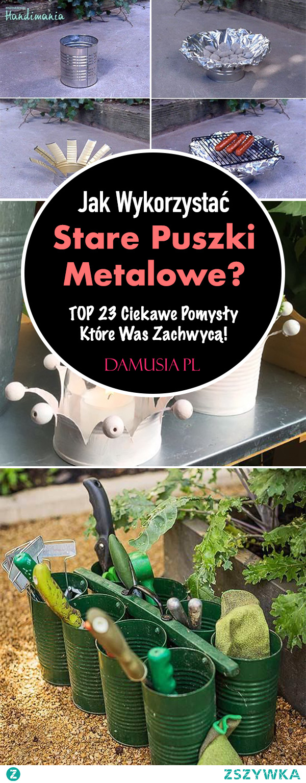 Jak Wykorzystać Stare Puszki Metalowe? TOP 23 Ciekawe Pomysły Które Was Zachwycą!