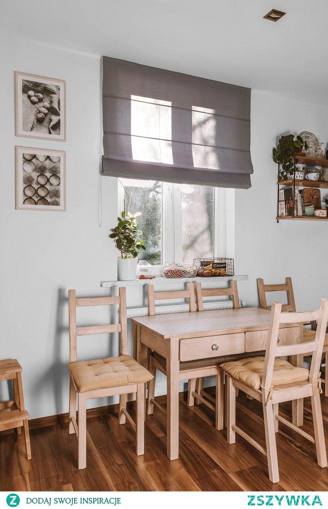 Szara roleta rzymska -->> wykonana na wymiar (możesz zamówić próbki)  Półka ścienna Grażynka  To dekoracje z Nasze Domowe Pielesze :)